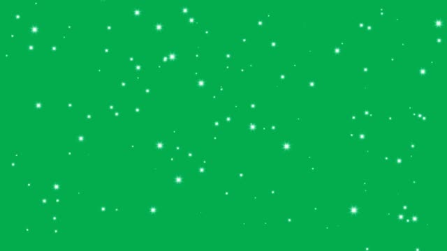 stars shine effect background on green screen animation. christmas decoration. - trasparente video stock e b–roll