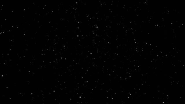 黒い画面の背景アニメーションに輝く星。きらめくお祝いや休日の装飾。クリスマススターグロー4kアニメーション。クロマキーシームレスループ。 - 星型点の映像素材/bロール