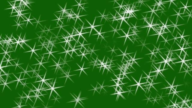 星星在綠屏背景動畫上閃閃發光。聖誕之星 - 明亮 個影片檔及 b 捲影像