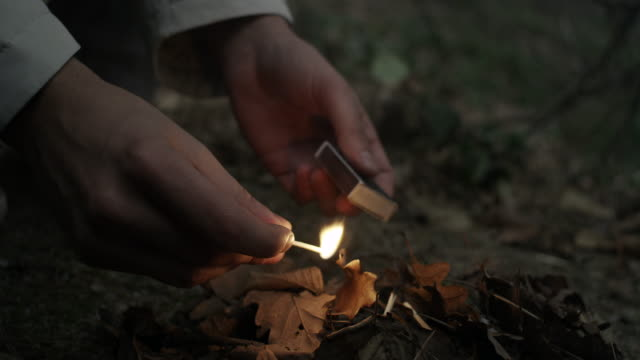 Starting a Fire with match video