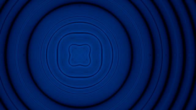 Moving blue to orange rings kaleidoscope fractal video video