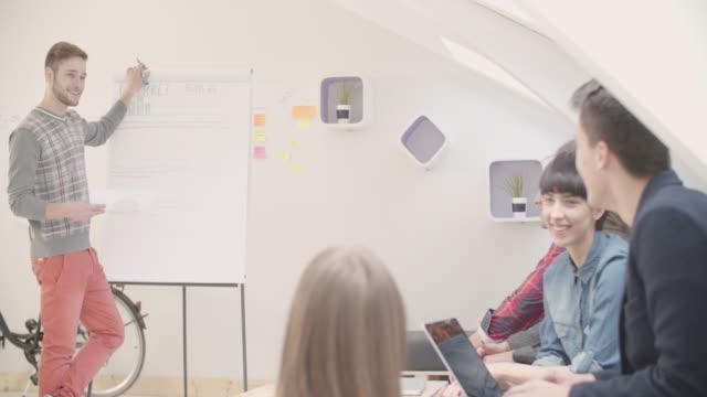 4K: Startup Business Presentation. video