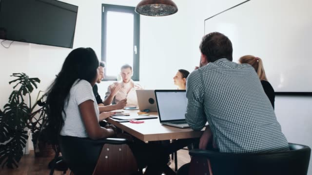 Startup company meeting (creative agency, digital marketing, new business)