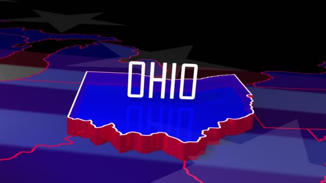 usa state fly into ohio - polityka i rząd filmów i materiałów b-roll