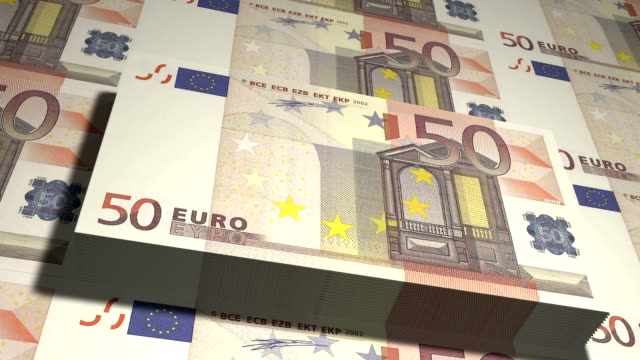 State mint print fifty euro bills fifty euro bills in large quantities inflation stock videos & royalty-free footage