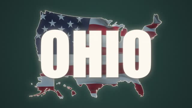 USA, State of Ohio in 4k UHD