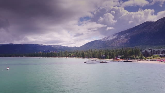 Stateline and Lake Tahoe Scenery - Aerial View video