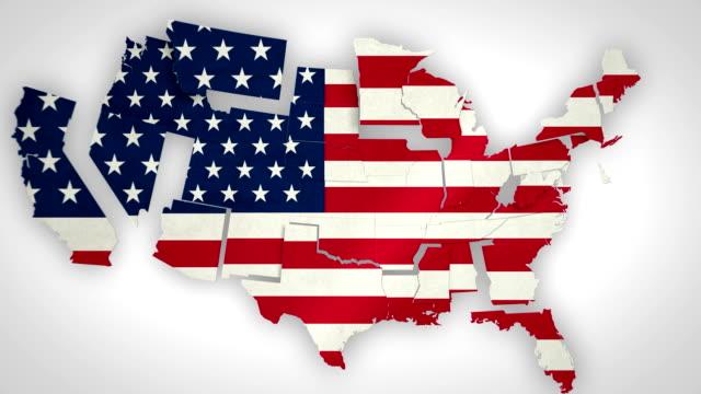 미국 국가 결합 - map 스톡 비디오 및 b-롤 화면