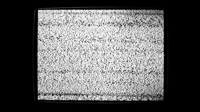 vidéos et rushes de bruit statique vacillantes detuned téléviseur à écran plat - gris