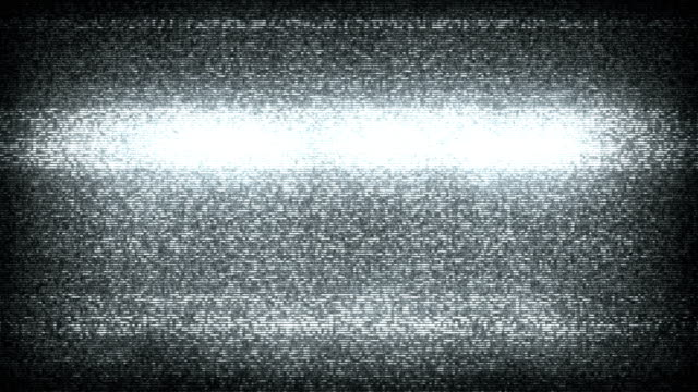 TV Static Noise with Audio - Black & White (Full HD) video
