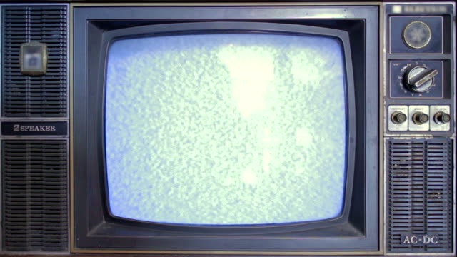 Static old television video