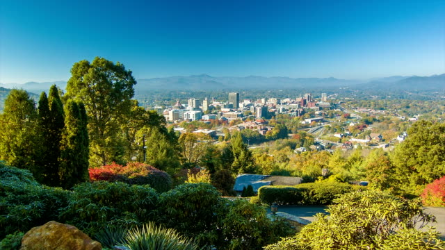 Static View of Asheville City Downtown from Town Mountain video