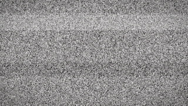 TV static with audio - loopable video