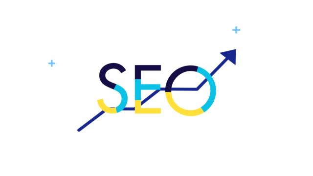 vídeos y material grabado en eventos de stock de estadísticas de optimización del motor de búsqueda de flechas - seo