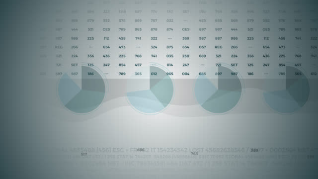 statistik, finansmarknads data, analys och rapporter, siffror och grafer. bildeffekter 3d. - accounting bildbanksvideor och videomaterial från bakom kulisserna