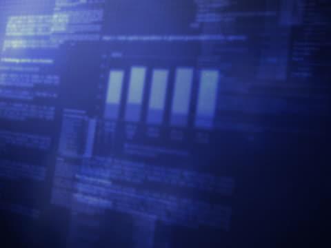 Statistics Graph Background Loop Blue video