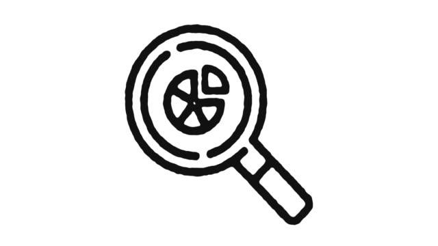 Statistics Icon Animation Footage & Alpha Channel