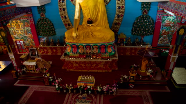 Statue Of Buddha in Temple video