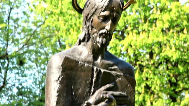 Statue of Jesus Christ in Mikhailovsky Monastery in Kiev, Ukraine video