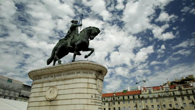 Statue of King John I Lisbon video