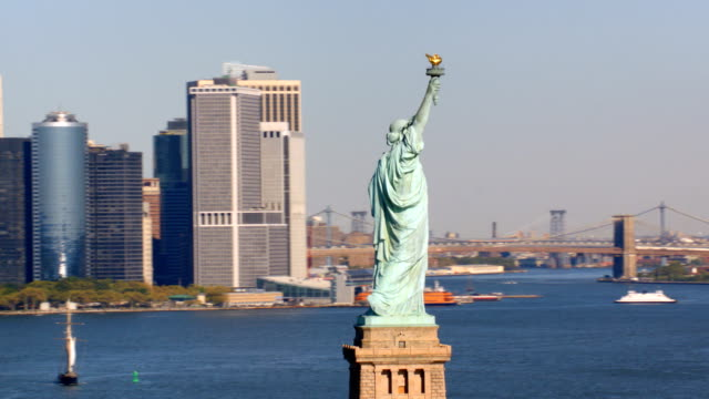 Statue of Liberty and Manhattan, New York City video