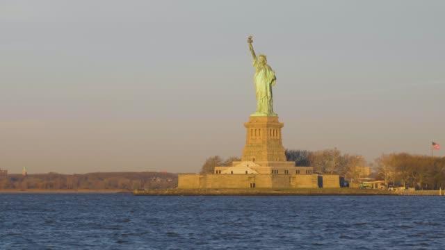 Statue of Liberty at Sunrise. Liberty Island, New York City