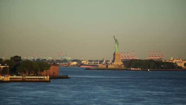 Statue Of Liberty In Morning Light video