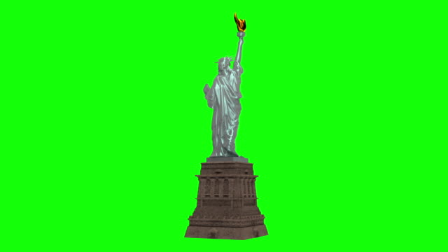Statue of Liberty Looped Alpha Footage Included.