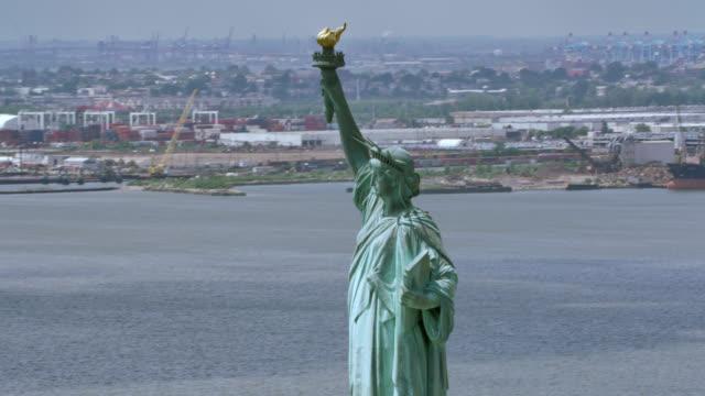 自由女神像, 紐約 - 航拍 個影片檔及 b 捲影像