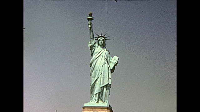 Statue of Liberty Statue of Liberty from boat tour, Hudson river of Manhattan. New York, United States of America on 1970. 20th century stock videos & royalty-free footage
