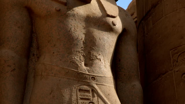 Statue of Ramesses II from Luxor Temple, Luxor Egypt video