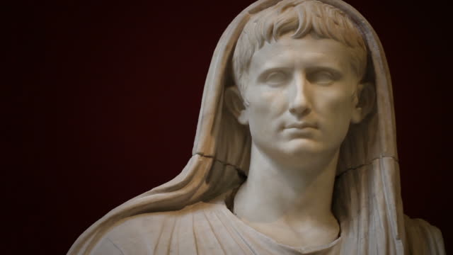 Statue of the Emperor Augustus as Pontifex Maximus video