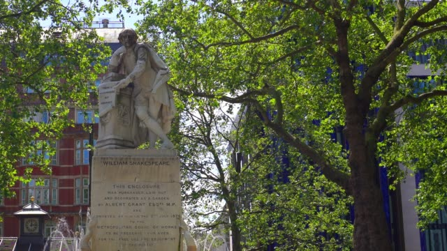 Statue of William Shakespeare, Leicester Square - vídeo