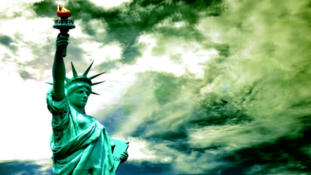 Statue time lapse of Liberty video