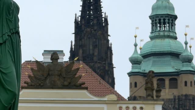 Statues near Prague Castle video