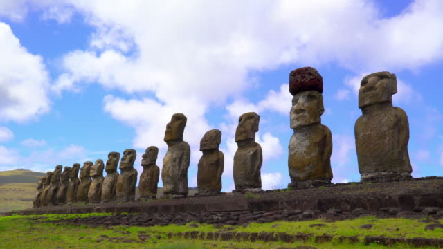Statues on Eastern Island, Chile video
