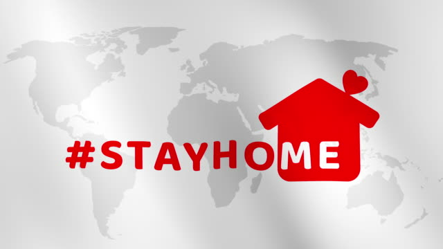 Stay at home slogan with house and heart on world map background abstract animation concept. Protection campaign or measure from coronavirus, COVID-19. Stay home quote text with hash tag or hashtag. Stay at home slogan with house and heart on world map background abstract animation concept. Protection campaign or measure from coronavirus, COVID-19. Stay home quote text with hash tag or hashtag. housing logo stock videos & royalty-free footage