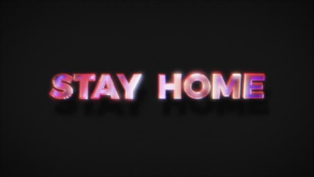 vídeos y material grabado en eventos de stock de hospédese en casa, mantenga su seguridad en salvar vidas - stay home