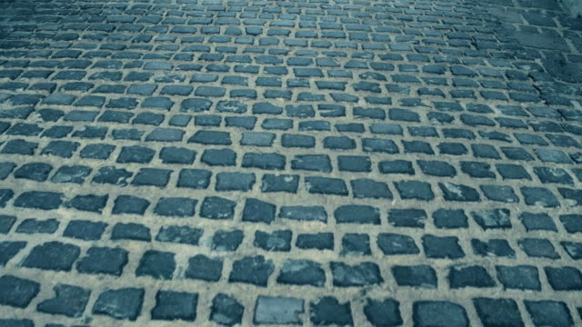 Steadicam shot of ancient urban pavement. FullHD video video