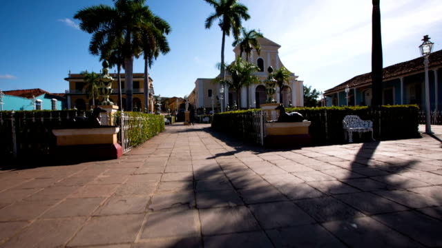 Steady Cam Plaza Mayor in Trinidad , Cuba video