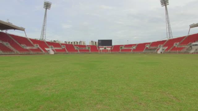 Steady cam shot of soccer fields video