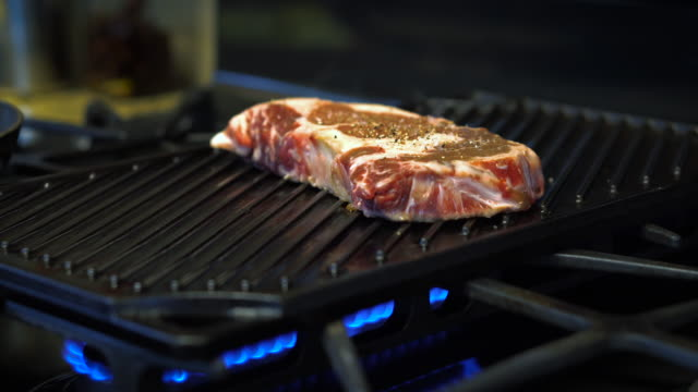 Steak on a Grill video