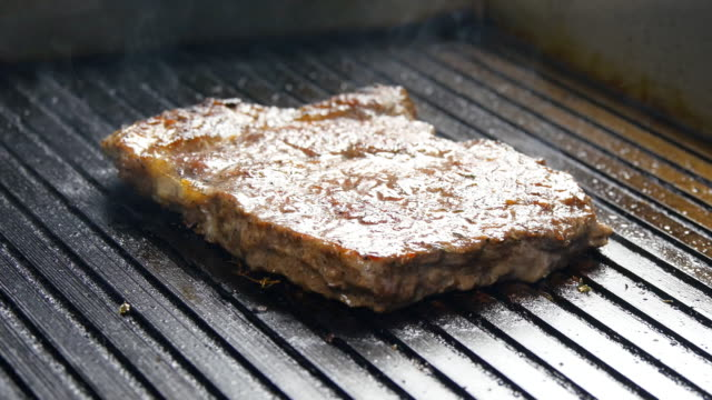 vídeos de stock, filmes e b-roll de suculento no grill - comida salgada