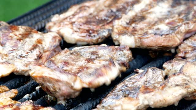 steaks - płyta do pieczenia filmów i materiałów b-roll
