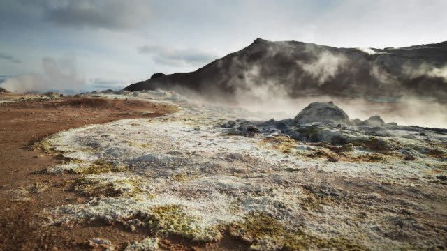 Steam Blows Over Active Volcanic Field, Iceland video