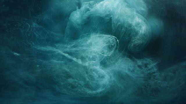 steam cloud flow teal blue glowing fume motion