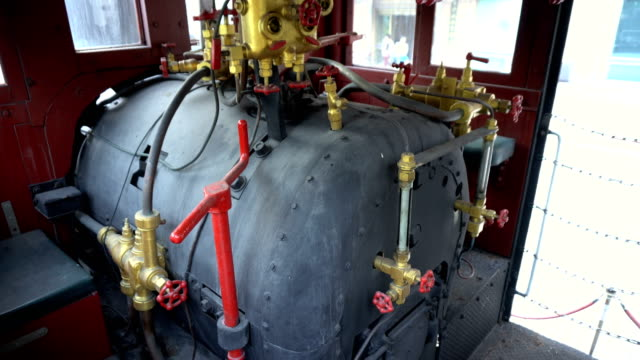 Steam Engine Boiler Of Old Locomotive Close Up