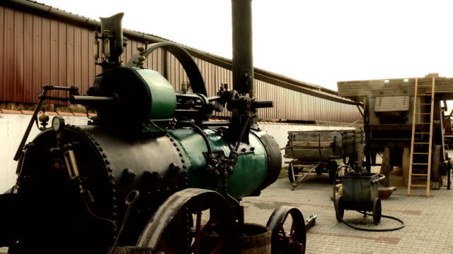 Steam Engine for Agricultural Work video