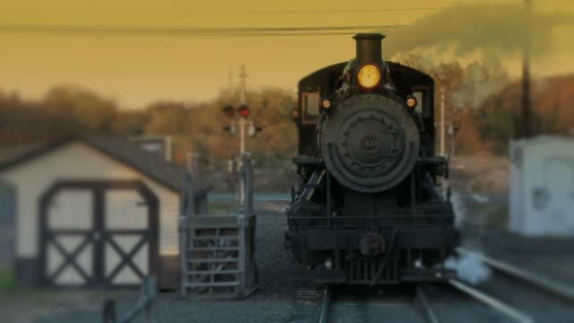 Steam Engine Train Locomotive - Evening Passage video