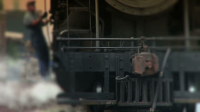 Steam Engine Train Passes By - Color video